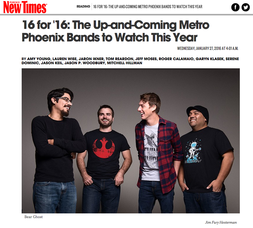 Bear Ghost Makes 16 for 16 Bands to watch in Phoenix New Times