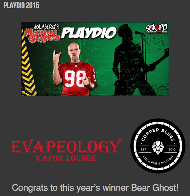 Bear Ghost wins 98 KUPD Playdio Contest
